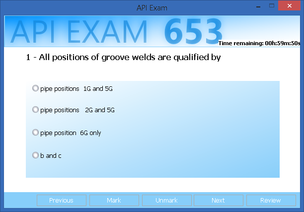 API 653 exam simulator